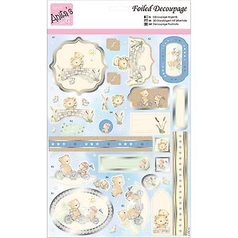 Anita's A4 Foiled Decoupage Sheet-Bear Buddies A169631