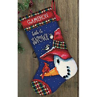 Snowman Perch Needlepoint Kit 13