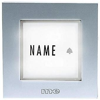 Bell panel backlit, with nameplate 1x m-e modern-electronics KTB-1 S Silver 12 V/1 A