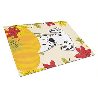 Dalmatian Thanksgiving Glass Cutting Board Large BB2016LCB