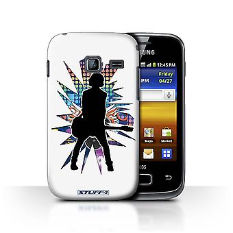 STUFF4 Case/Cover for Samsung Galaxy Y Duos/S6102/Emotion White/Rock Star Pose