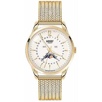 Henry London Mens Moonphase Gold PVD Plated HL39-LM-0160 Watch