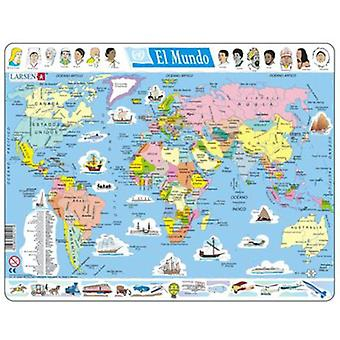 Larsen Puzzle Large Political World (Toys , Boardgames , Puzzles)