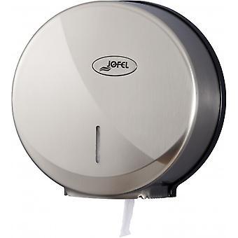 Jofel Brushed Nickel Silver Jumbo Toilet Roll Dispenser