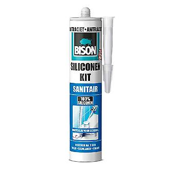Bison Siliconenkit Sanitair Antraciet 310 Ml