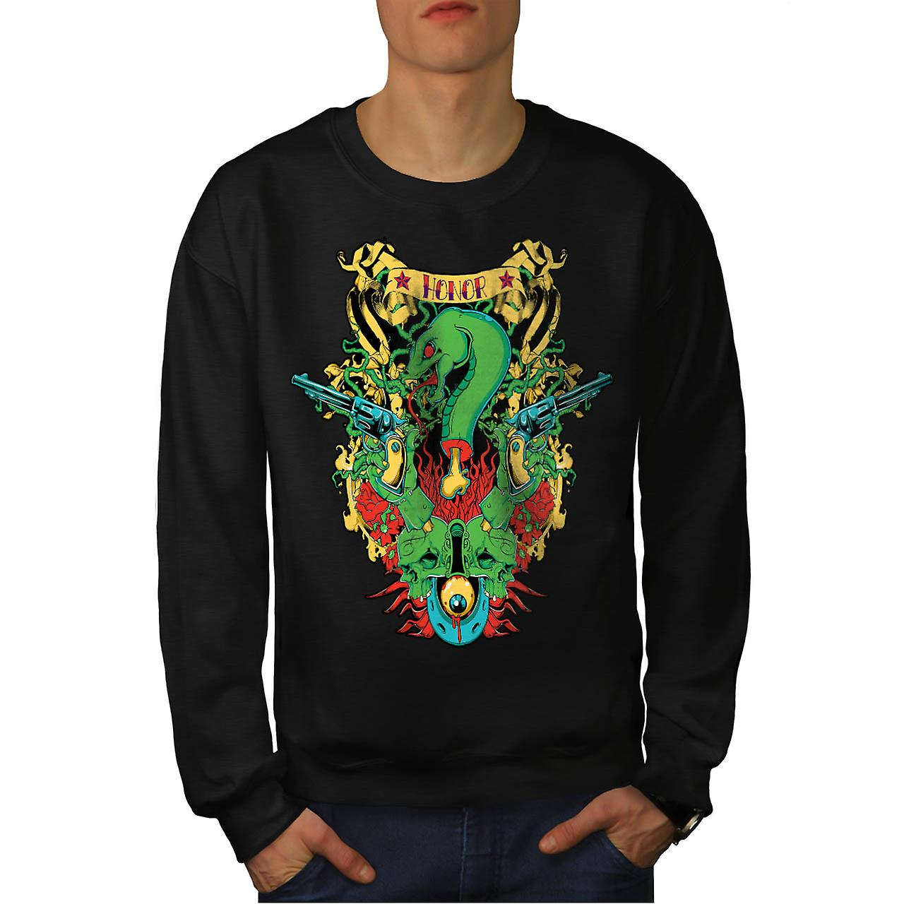 Dragon mort honneur serpent mythe hommes Black Sweatshirt | Wellcoda