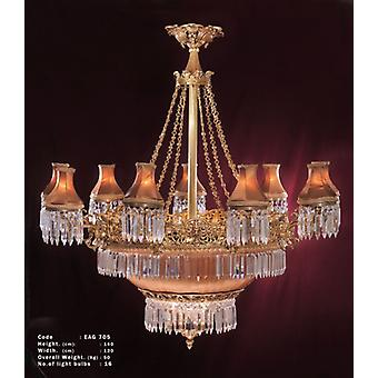 chandelier glass strass lamp brass baroque  antique chandelier strass glass AgEag0705