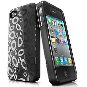 iSkin solo FX SE protective case for iPhone 4 / 4 S - Black