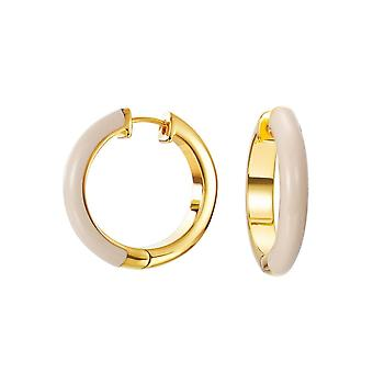 ESPRIT women's Creole earrings stainless steel gold fancy beige ESCO11657B000