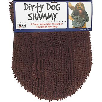 Beskidt hund vaskeskind brun 33x79cm