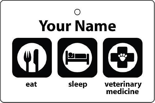 Personalised Eat Sleep Veterinary Medicine Car Air Freshener