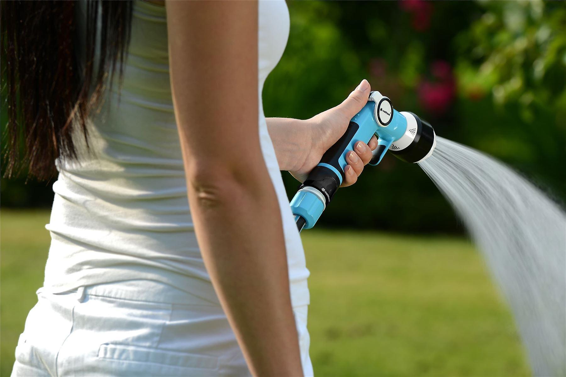 Multifunctional Garden Gun Hand Sprinkler with Non-gradual Water Flow Regulation