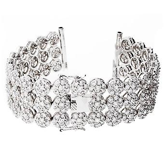 Iced out CLUSTER watches bracelet - 3 ROW CLEAR
