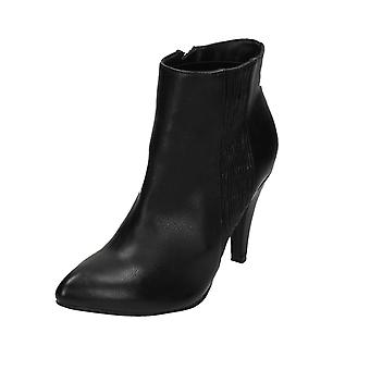 Ladies Spot On High Heel Ankle Boots F50332