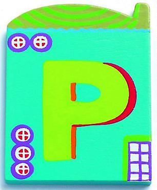Djeco Cottage letter - P (Babies and Children , Toys , Others)