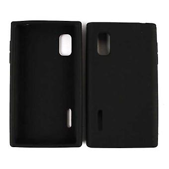 Unlimited Cellular Deluxe Silicone Skin Case for LG L40G / Optimus Extreme (Blac
