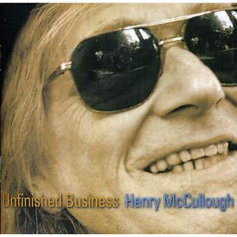 Henry McCullough - Unfinished Business [CD] USA import