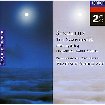 Ashkenazy/Philharmonia Orch - Sibelius: Finlandia; Karelia-Suite; Importieren Sie die Symphonien Nr. 1, 2 & 4 [CD]-USA