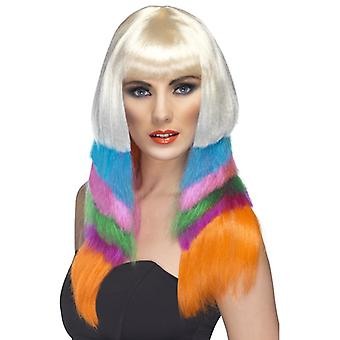 Neon starlet wig multicolored speed