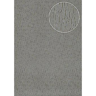 High-quality tone on-tone wallpaper Atlas COL-445-3 non-woven wallpaper smooth solid colors shimmering grey umbra grey Silver 5.33 m2