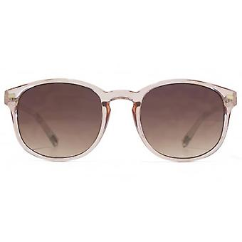 American Freshman Plastic Preppy Sunglasses In Crystal Pink