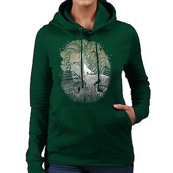 Game of Thrones Jon Snow Winter Wolf Night Sky Howling Moon Women's Hooded Sweatshirt
