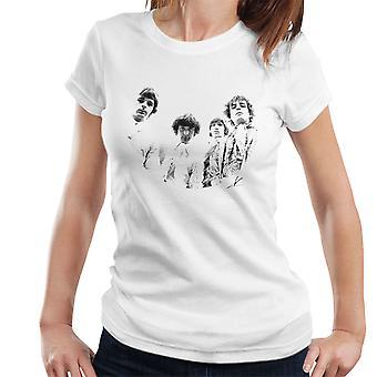 Pink Floyd Ruskin Park schießen 1967 schwarz / weiß Damen T-Shirt