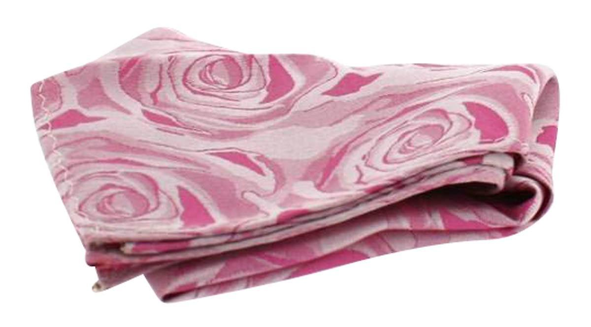 David Van Hagen Wedding Rose Silk Handkerchief - Fuchsia