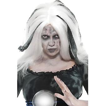 Smiffys Soothsayer Wig White With Grey Streaks (Costumes)