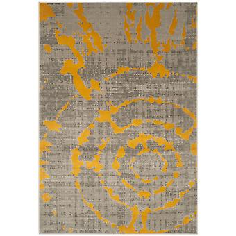 Short-pile woven rug living room indoor carpet grey yellow indoor rugs - Pacific abstract grey Yellow 70 / 275 cm - rug for the living room inside