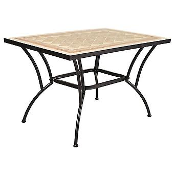 Ldk Rectangular forge / ceramic table 120x80x74 cm