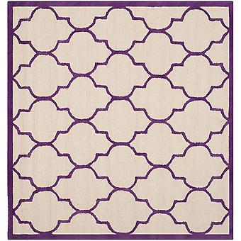 Everly elfenben & lilla firkant espalier tæppe - Safavieh