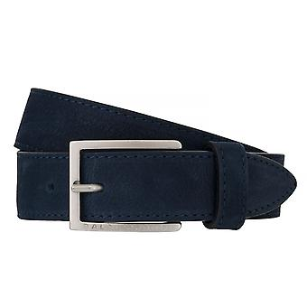 BALDESSARINI belt leather belts men's belts leather Notte/blue 6512