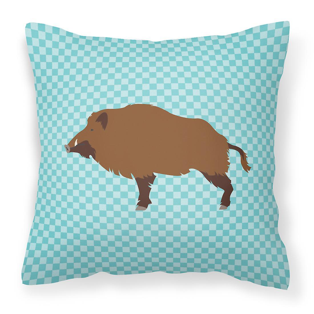 Vérifier Tissu Le Décoratif Sanglier Cochon Bleu Oreiller xeoWrBCd