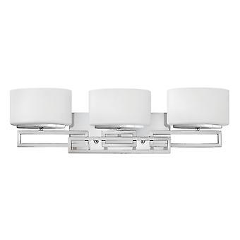 HK/LANZA3 BATH Lanza 3 Light Polished Chrome Bathroom Above Mirror Lig