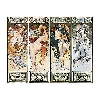 Les Saisons Poster Print por Alphonse Mucha (20 x 16)