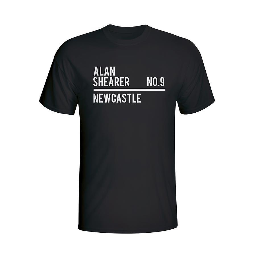 Alan Shearer Newcastle rosa t-shirt (nero) - bambini