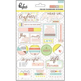 Vivre plus en couches Chipboard autocollants 5