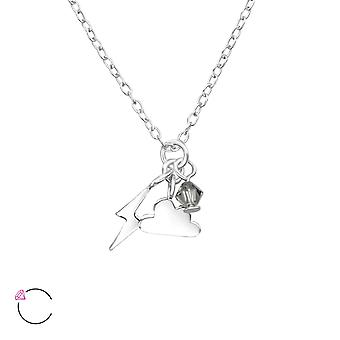 Lightningbolt And Cloud crystal from Swarovski® - 925 Sterling Silver Children's Jewellery