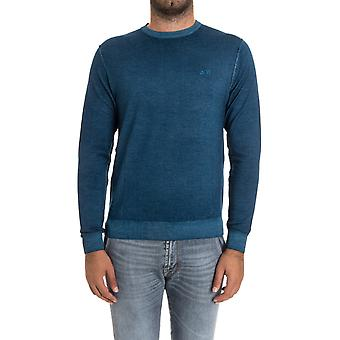 Sun 68 men's 2715470 blue wool sweater