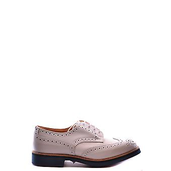 Tricker's men's MCBI298002O White Leather lace-up shoes