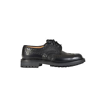 Church's men's EEC0239ACTAAB black leather lace-up shoes