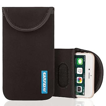 Caseflex iPhone 7 Plus Neopren Tasche - schwarz