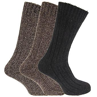 Mens Chunky Boot Socks With Wool (Pack Of 3)