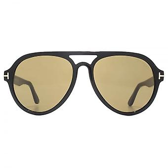 Tom Ford Rory 02 Sunglasses In Shiny Black