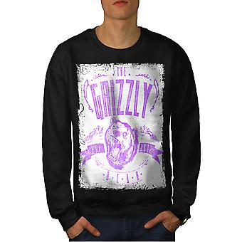 Grizzly Bear Club mannen-BlackSweatshirt | Wellcoda
