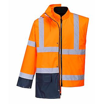 RSU - giacca Hi-Vis sicurezza Workwear essenziale 5-in-1