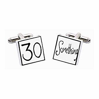 30 Something Cufflinks by Sonia Spencer, in Presentation Gift Box. Hand painted