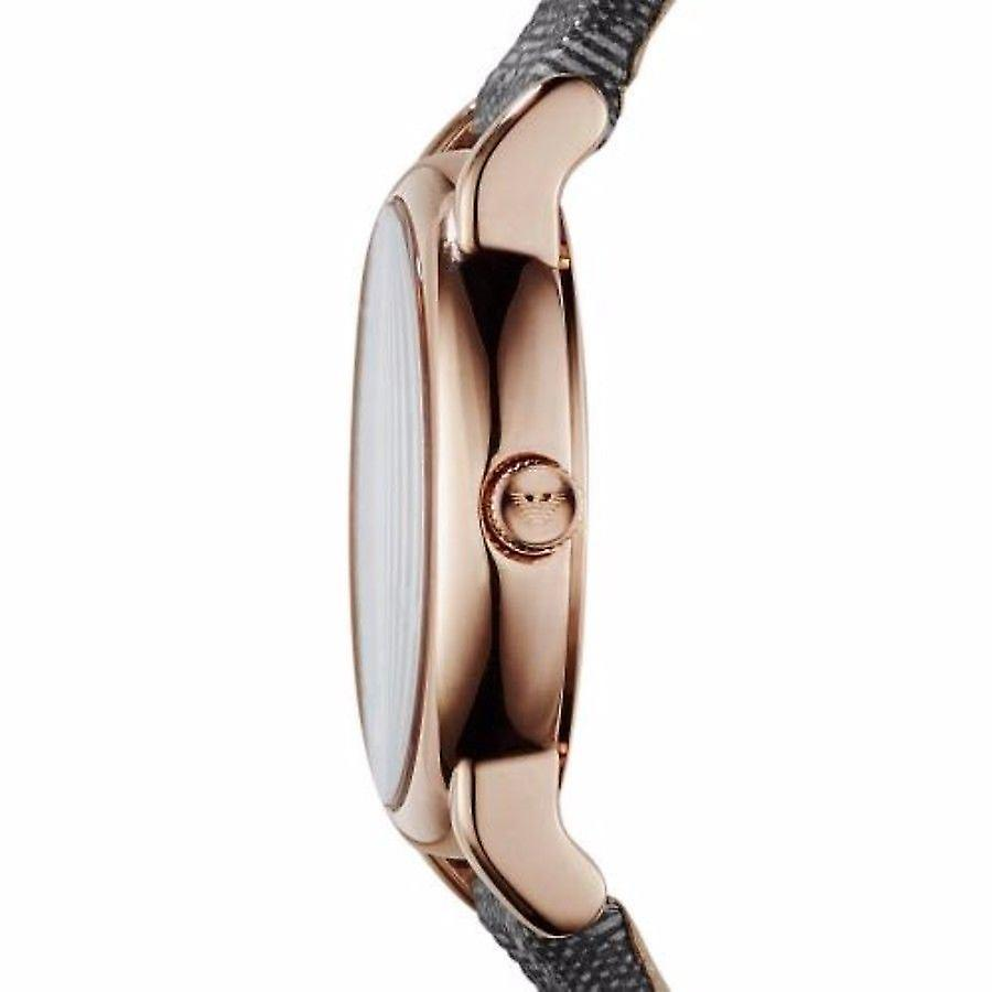 Emporio Armani Womens Ladies Watch Grey Fabric Strap Grey Dial AR1837