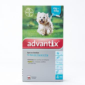 Advantix for Medium sized dogs 4-10kg (8.8-22lbs), 4 Pack